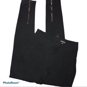 CHOCOLATE Black Ponte Jeggings w/Leg Zippers / SM